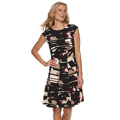 Women's Dana Buchman Travel Anywhere Gathered Fit & Flare Dress