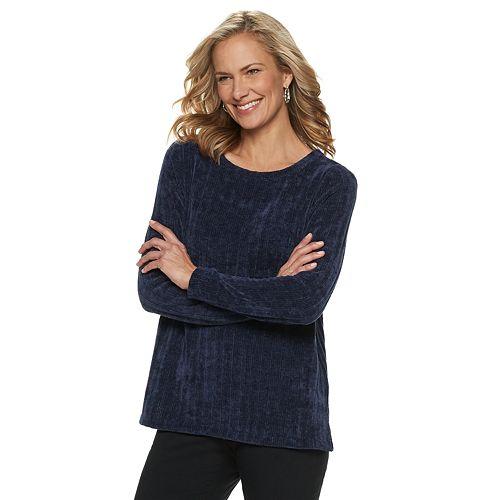 Women's Dana Buchman Scoopneck Chenille Sweater
