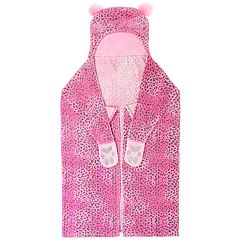 Cheetah Print Hooded Wearable Throw Blanket