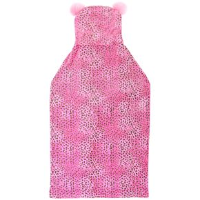 Cheetah Print Hooded Wearable Throw Blanket