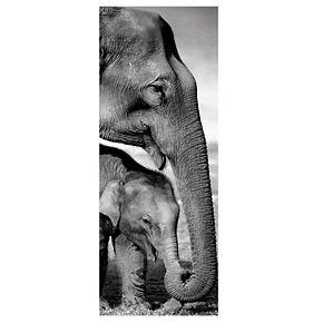 "New View Elephants 8"" x 20"" Canvas Wall Art"