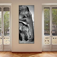 New View Elephants 16' x 40' Canvas Wall Art