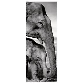 "New View Elephants 16"" x 40"" Canvas Wall Art"