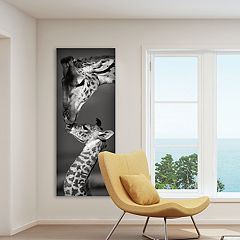 New View Masai Mara Giraffes 12' x 36' Canvas Wall Art