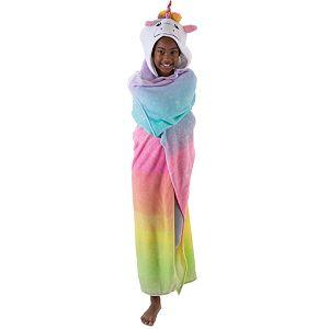 Girls Unicorn Soft Hooded Throw