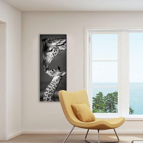 """New View Masai Mara Giraffes 16"""" x 40"""" Canvas Wall Art"""