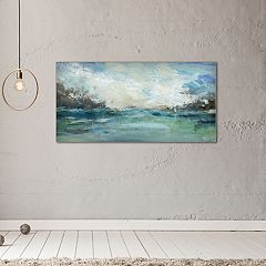 New View Wild Sea 17' x 34' Canvas Wall Art