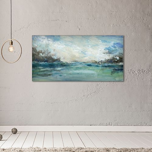 "New View Wild Sea 17"" x 34"" Canvas Wall Art"