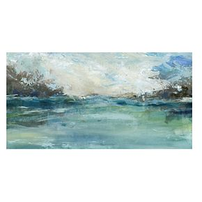 "New View Wild Sea 17"" x 34"" Canvas Wall Art"