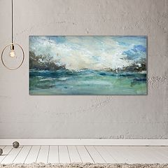 New View Wild Sea 24' x 48' Canvas Wall Art