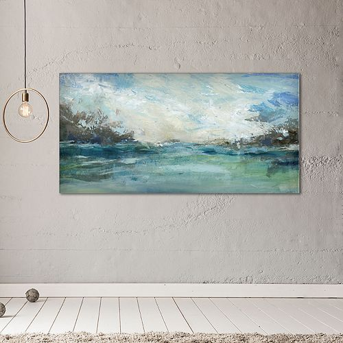 "New View Wild Sea 24"" x 48"" Canvas Wall Art"