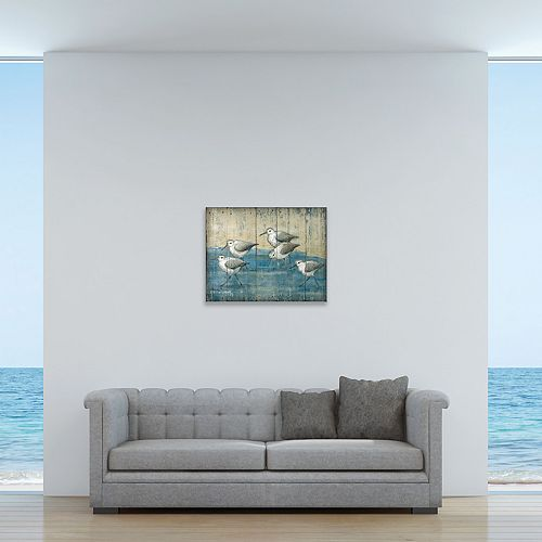"New View Sand Piper 16"" x 20"" Canvas Wall Art"