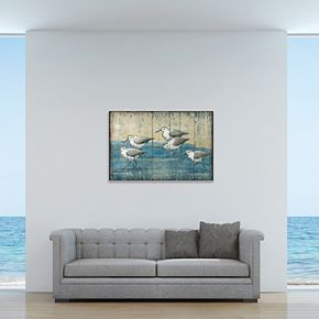 "New View Sand Piper 24"" x 36"" Canvas Wall Art"