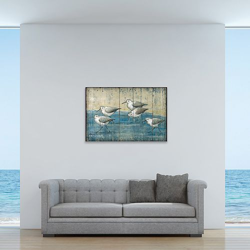"""New View Sand Piper 24"""" x 36"""" Canvas Wall Art"""