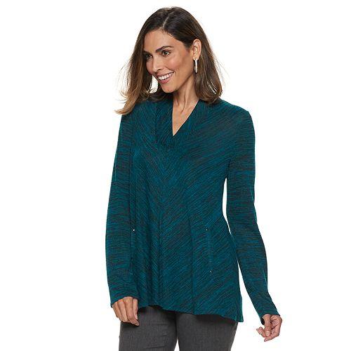 Women's Dana Buchman Space-Dyed Draped Top