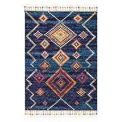 Nourison Moroccan Geometric Tassel Rug