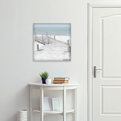 """New View Old Jetty 16"""" x 16"""" Canvas Wall Art"""