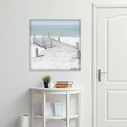 """New View Old Jetty 24"""" x 24"""" Canvas Wall Art"""