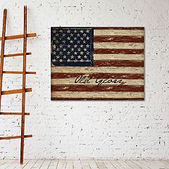 New View Old Glory 22' x 28' American Flag Canvas Wall Art