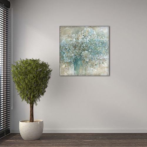 "New View Hydrangea 16"" x 16"" Canvas Wall Art"