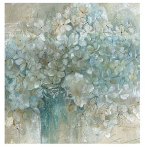 "New View Hydrangea 24"" x 24"" Canvas Wall Art"