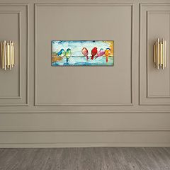 New View Songbirds 8' x 20' Canvas Wall Art