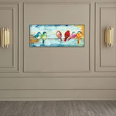 New View Songbirds 12' x 36' Canvas Wall Art