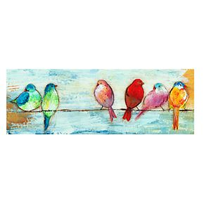 "New View Songbirds 12"" x 36"" Canvas Wall Art"