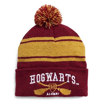 8e2bfe07 Women's Harry Potter Striped Hogwarts Varsity Knit Beanie