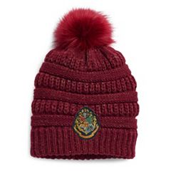 Women's Harry Potter Embroidered Hogwarts Crest Knit Beanie