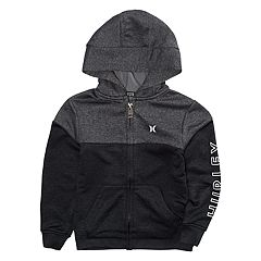Toddler Boy Hurley Dri-FIT Solar Zip Black Hoodie