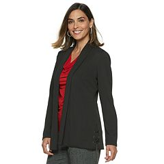 Women's Dana Buchman Travel Anywhere Open-Front Lace Up Blazer