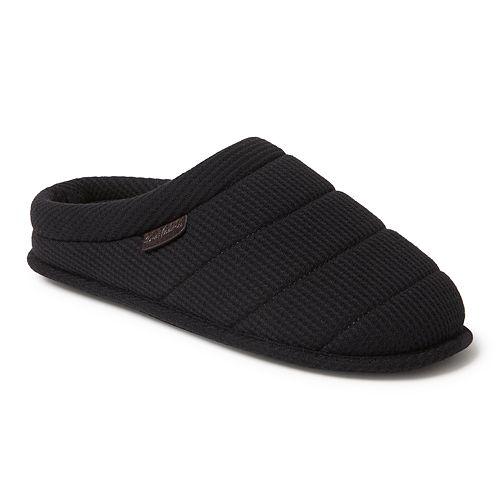 b1fd0d703 Men s Dearfoams Mixed Material Quilted Clog Slippers