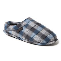 Men's Dearfoams Mixed Material Quilted Clog Slippers