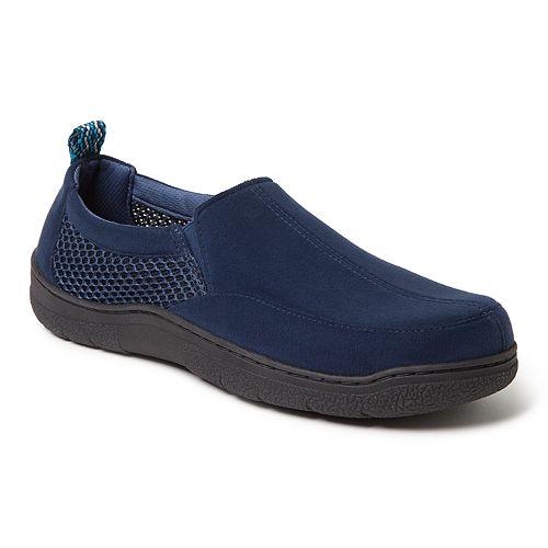 Men's Dearfoams Microsuede & Mesh Jungle Moccasin Slippers