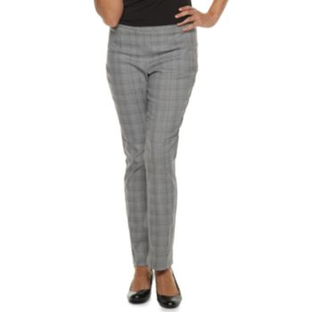 Women's Briggs Millennium Plaid Slim-Cut Pants