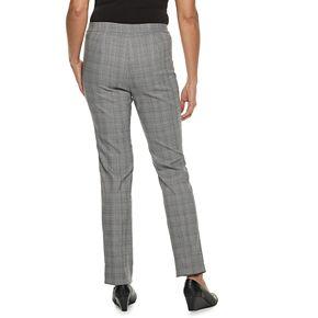 Women's Briggs Millennium Plaid Slim-Cut Pants