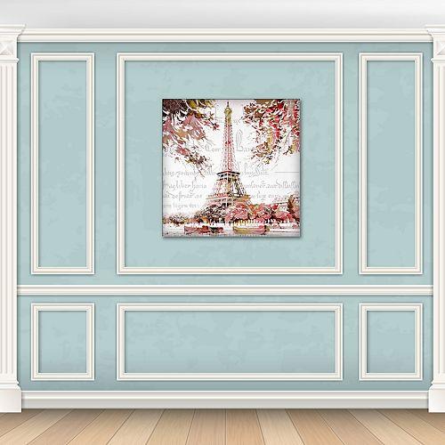 "New View Paris Springtime Eiffel Tower 24"" x 24"" Canvas Wall Art"