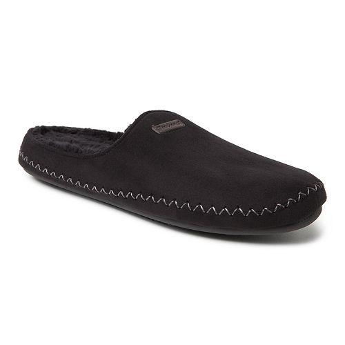 Men's Dearfoams Whipstitch Microsuede Mule Slippers