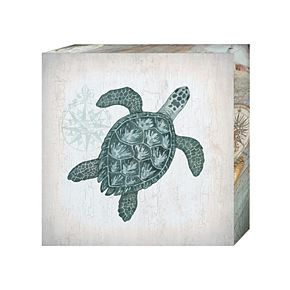 "New View Nautical 2 Turtle 16"" x 16"" Canvas Wall Art"