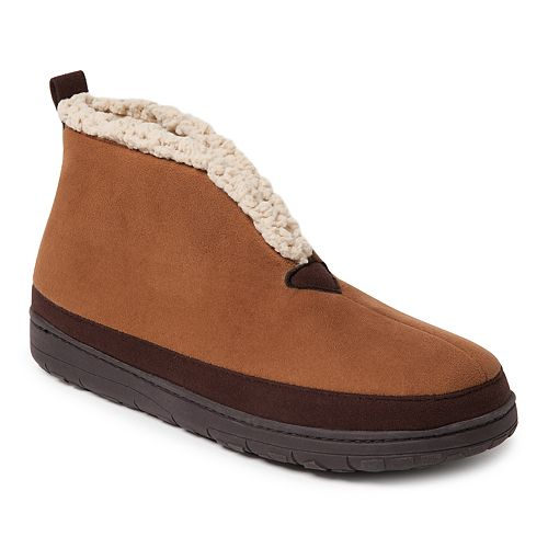 Men's Dearfoams Microsuede Mudguard Boot Slippers