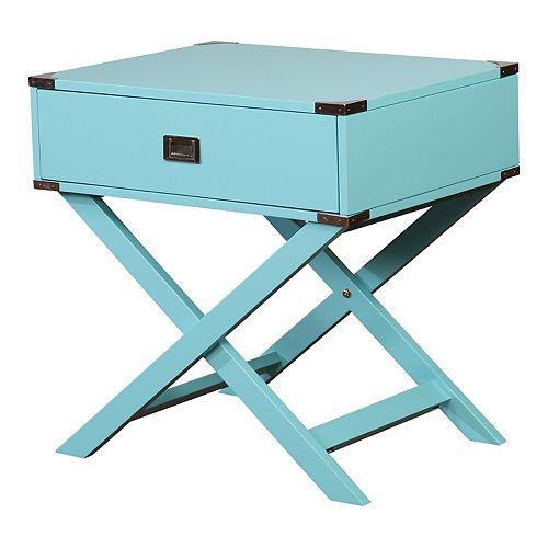 Linon Peggy X-Leg End Table