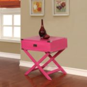 Linon Peggy X-Leg End Table