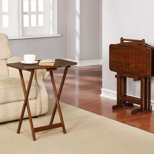 Linon Hannah Snack Tray Table 5-piece Set