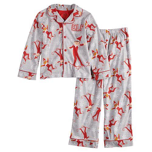 Boys 4-10 Elf On The Shelf 2-Piece Pajamas