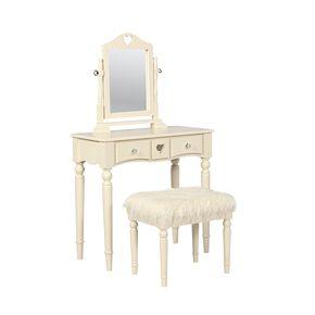 Linon Sadie Youth Vanity Table & Stool 2-piece Set