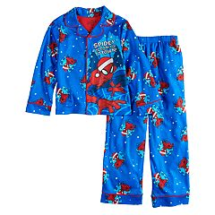 Boys 4-10 Spider-Man Santa 2-Piece Pajamas
