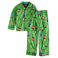 Boys 6-12 Minecraft TNT 2-Piece Pajama Set