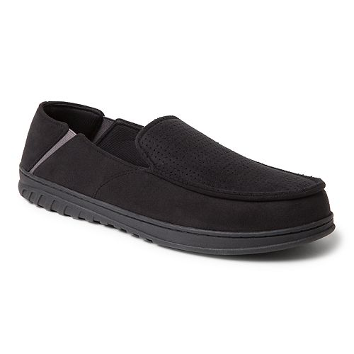 Men's Dearfoams Perforated Gore Moccasin Slippers
