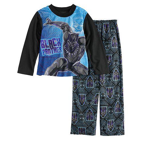 Boys 6-12 Black Panther 2-Piece Pajama Set